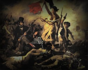Liberty leading the people (Delacroix)